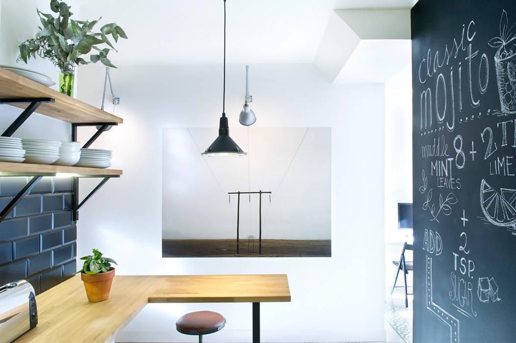 Vivienda en Sant Joan. Barcelona Cocinas de estilo industrial de Egue y Seta Industrial