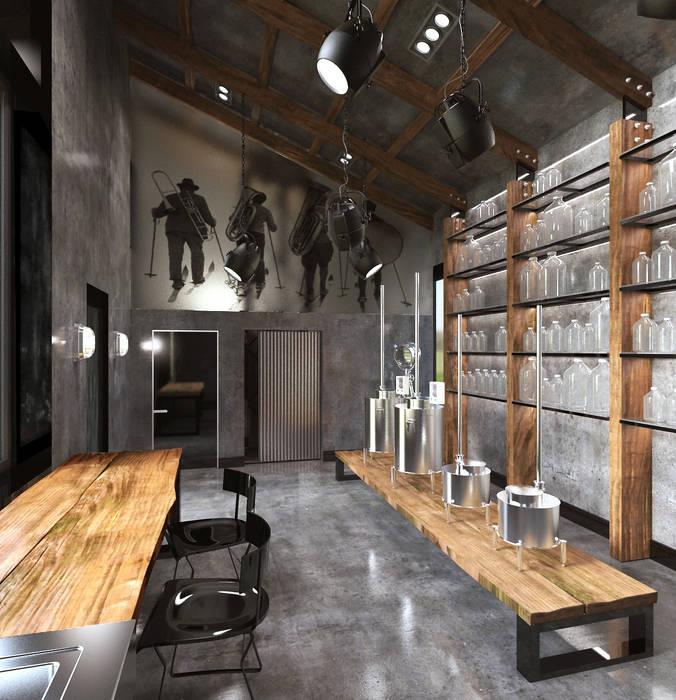 Estudios y bibliotecas de estilo minimalista de Архитектурное бюро и дизайн студия 'Линия 8' Minimalista