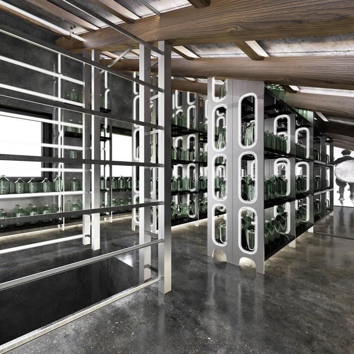 Minimalist wine cellar by Архитектурное бюро и дизайн студия 'Линия 8' Minimalist