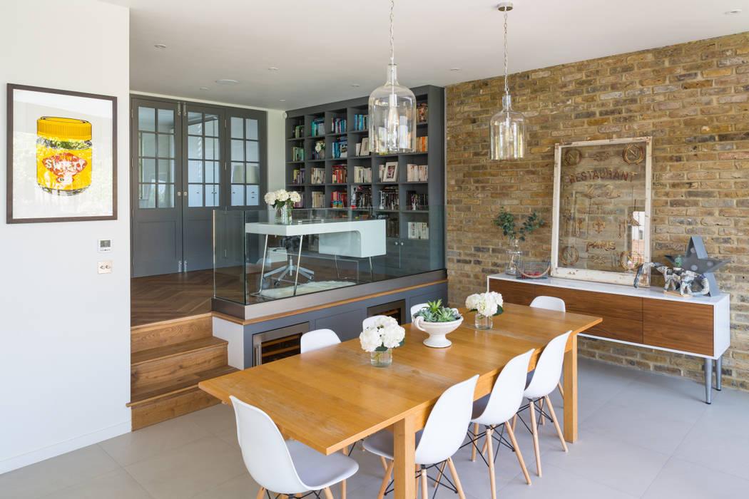 Broadgates Road Salones de estilo moderno de Granit Architects Moderno