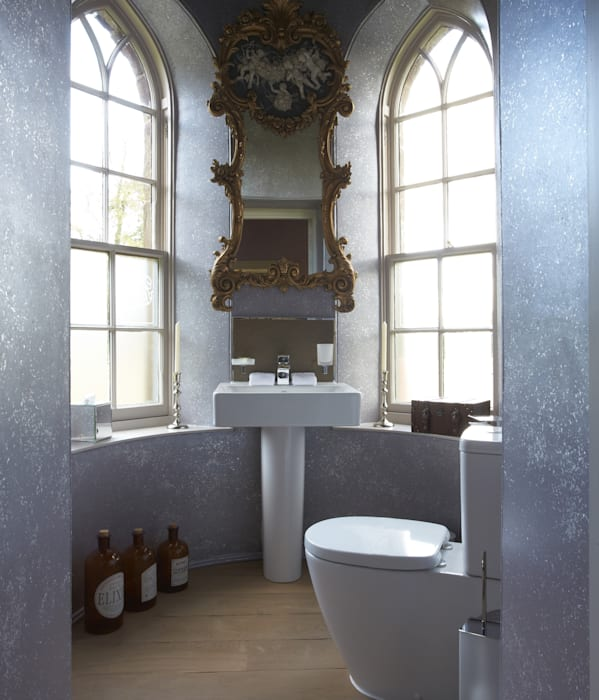 Blown Silver Fleck Finish - Fasque House, Fettercairn:  Hotels by Carte Blanche Decorative Painters,