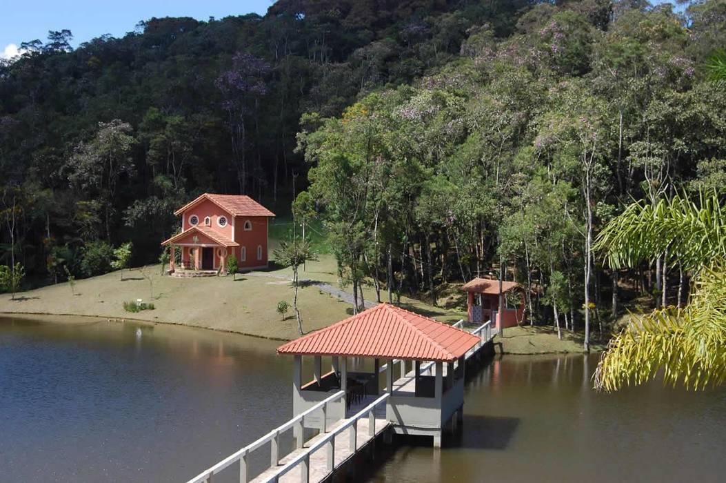 Projeto casa de campo MARIA IGNEZ DELUNO arquitetura Casas rústicas
