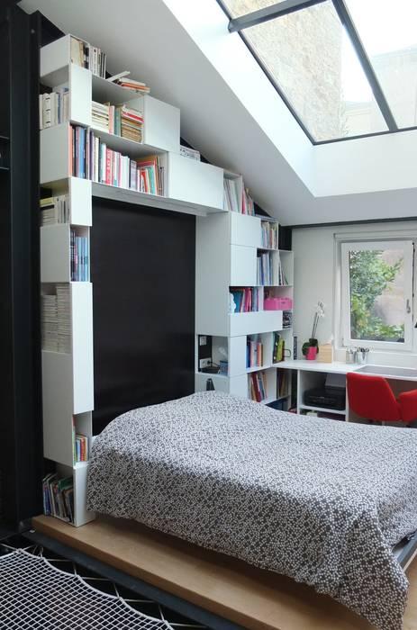 Espace de vie optimisé Chambre moderne par emmanuelle depret designer Moderne
