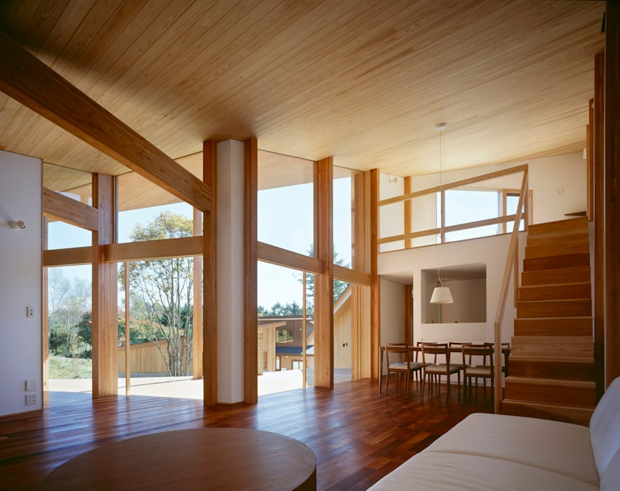 Villa Boomerang 森吉直剛アトリエ/MORIYOSHI NAOTAKE ATELIER ARCHITECTS Modern Living Room