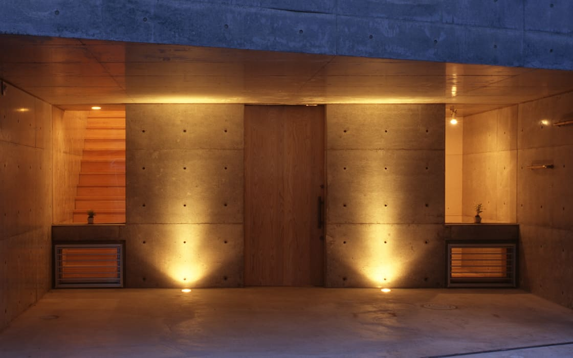 K&K-HOUSE アプローチ: M4建築設計室が手掛けた家です。