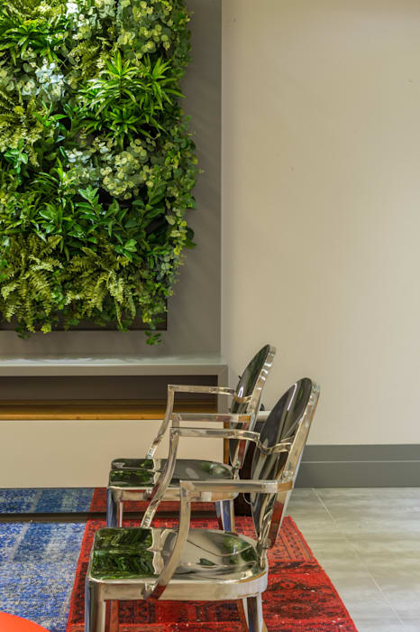 Projeto 17 - Residência clean Salas de estar modernas por GREISSE PANAZZOLO ARQUITETURA Moderno