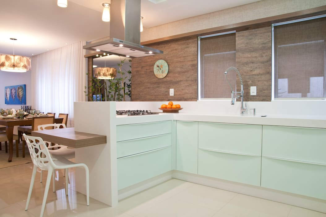 COZINHA Cozinhas minimalistas por Élcio Bianchini Projetos Minimalista