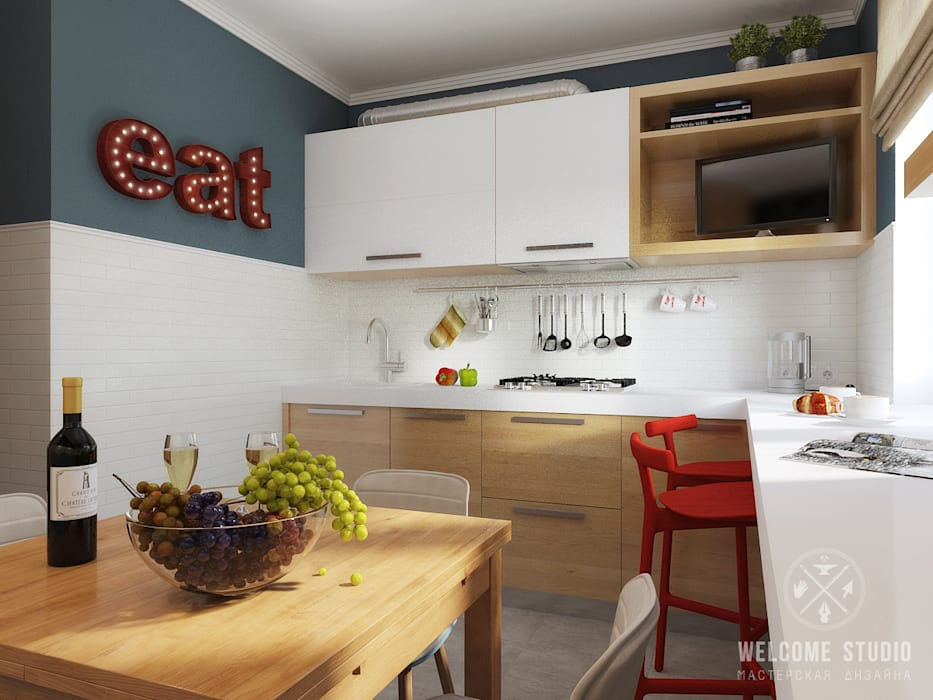 Мастерская дизайна Welcome Studio Cocinas de estilo industrial