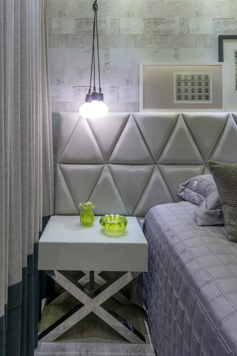 Projeto 17 - Residência clean Quartos modernos por GREISSE PANAZZOLO ARQUITETURA Moderno