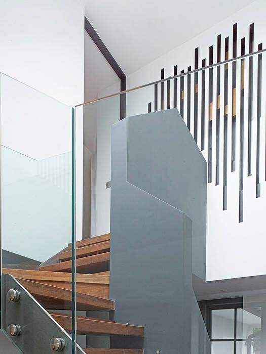 Sheen Lane, Staircase Modern corridor, hallway & stairs by BLA Architects Modern