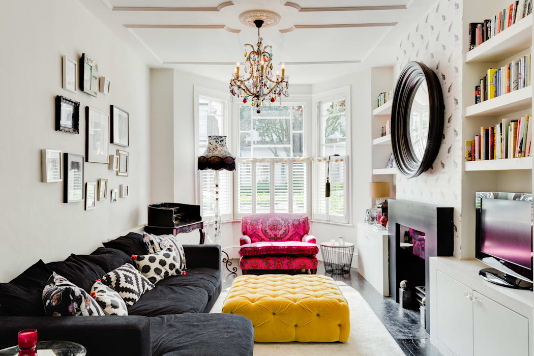 Queens Park House Eclectic style living room by Honeybee Interiors Eclectic