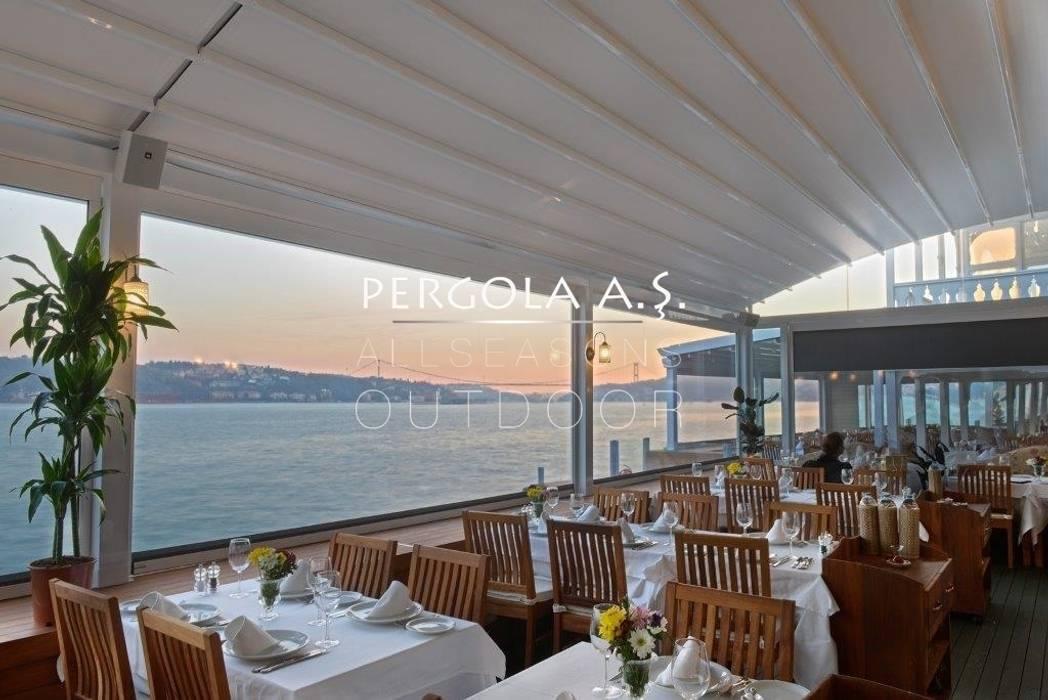 Açılır Kapanır Kış Bahçe Sistemleri Minimalist Balkon, Veranda & Teras PERGOLA A.Ş. Minimalist