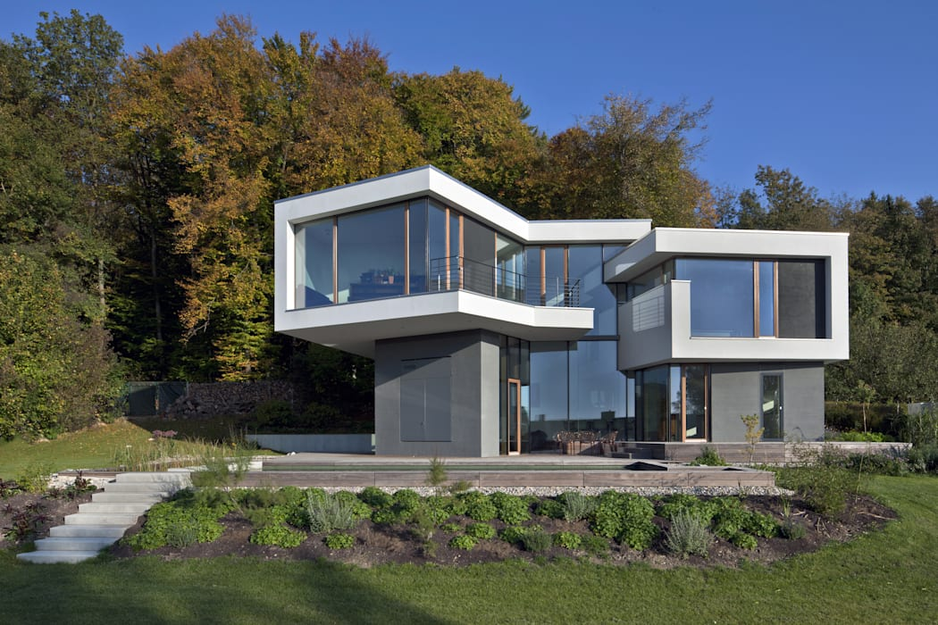 Hangansicht Kauffmann Theilig & Partner, Freie Architekten BDA Moderne Häuser