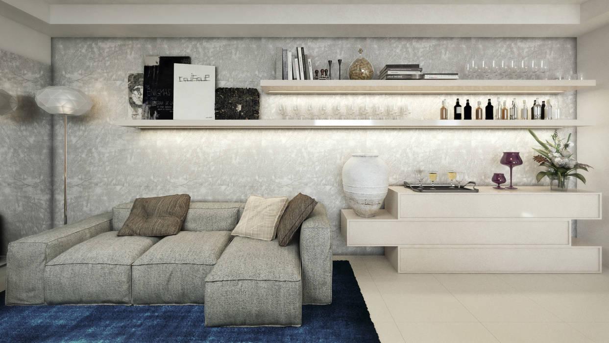 APTO MZ : Salas de estar  por AF Arquitetura