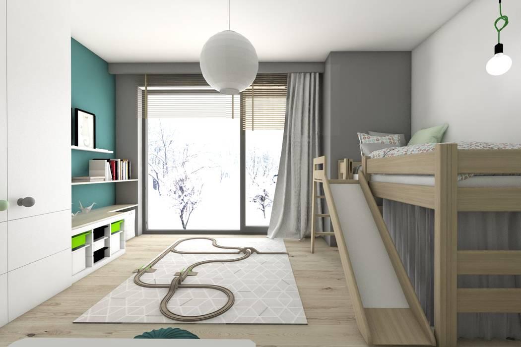 Dormitorios infantiles de estilo  de BAGUA Pracownia Architektury Wnętrz, Moderno