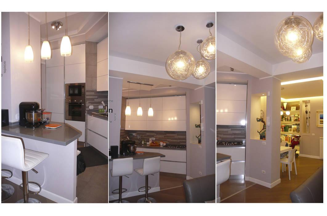 Intervento di Ristrutturazione di un appartamento zona Monteverde, a Roma .: Cucina in stile in stile Moderno di NicArch