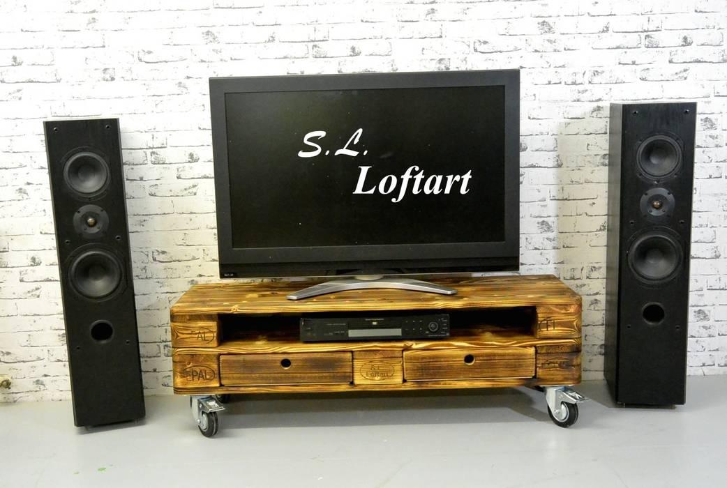 S L Loftart Palettenmobel Tv Hifi Bank Middel Media Multimedia
