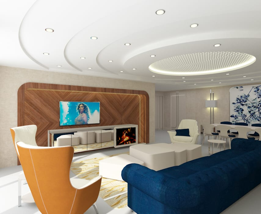 Salon moderne par Inan AYDOGAN /IA Interior Design Office Moderne