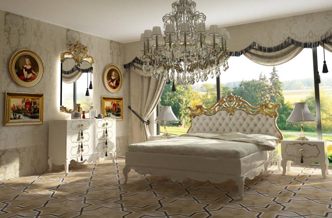 Inan AYDOGAN /IA Interior Design Office ห้องนอนเตียงนอนและหัวเตียง