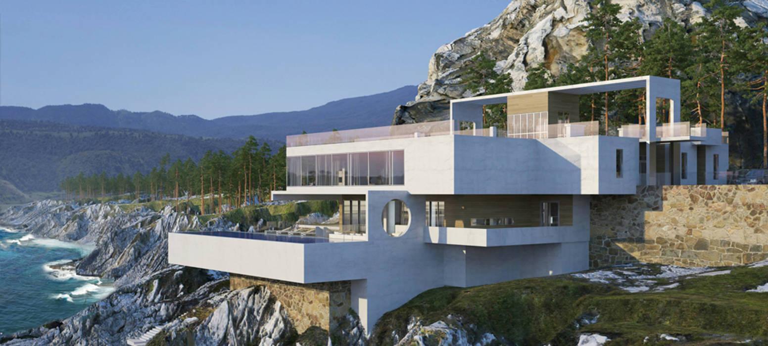 Maisons minimalistes par Студия авторского дизайна БОН ТОН Minimaliste