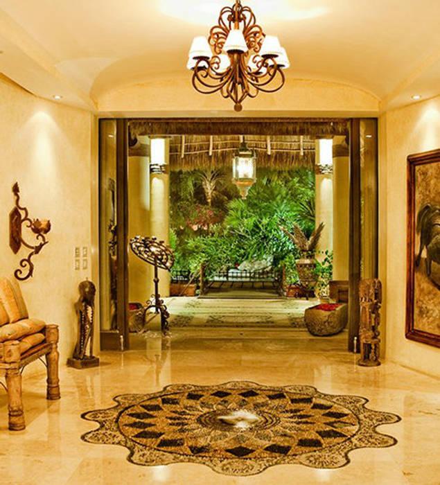 Casa Amore: Paredes de estilo  por BR  ARQUITECTOS, Tropical