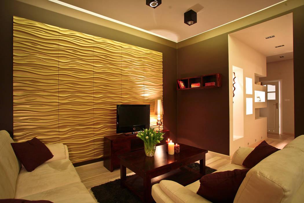 Wandpaneel Nr. 27 STREAM von Loft Design System:  Wohnzimmer von Loft Design System Deutschland - Wandpaneele aus Bayern,Klassisch