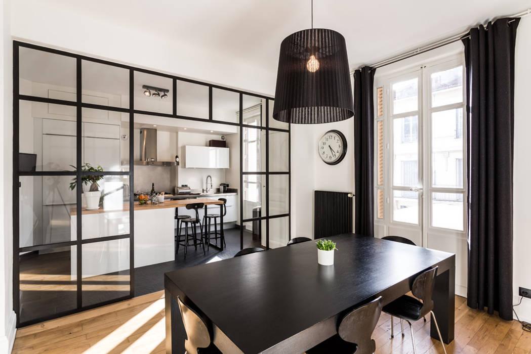 Rénovation d'un appartement à Lyon 6e: Cuisine de style  par Stellati Rénovation