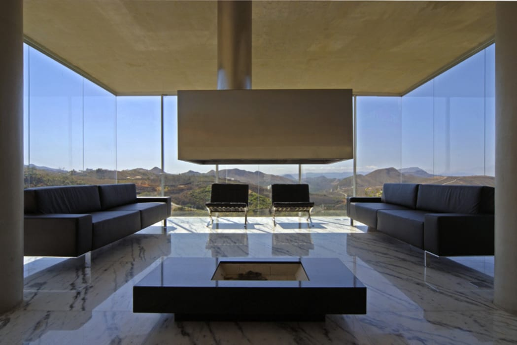 "Vista da ""Sala Mirante"". Salas de estar modernas por Humberto Hermeto Moderno"