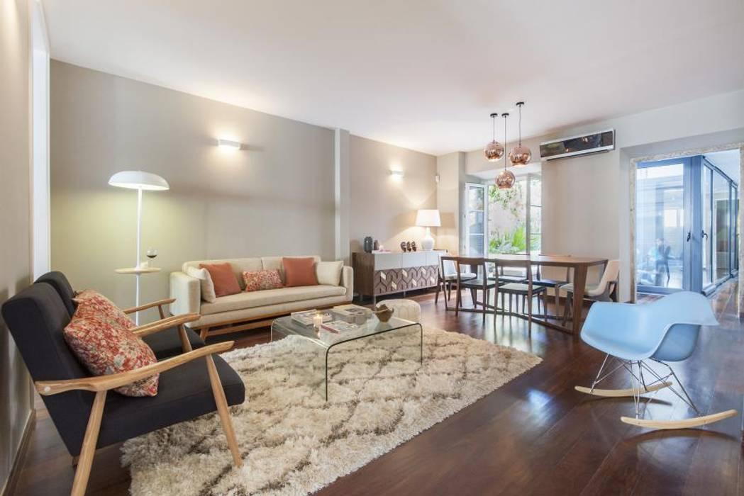 Ruang Keluarga Gaya Eklektik Oleh Ana Rita Soares- Design de Interiores Eklektik