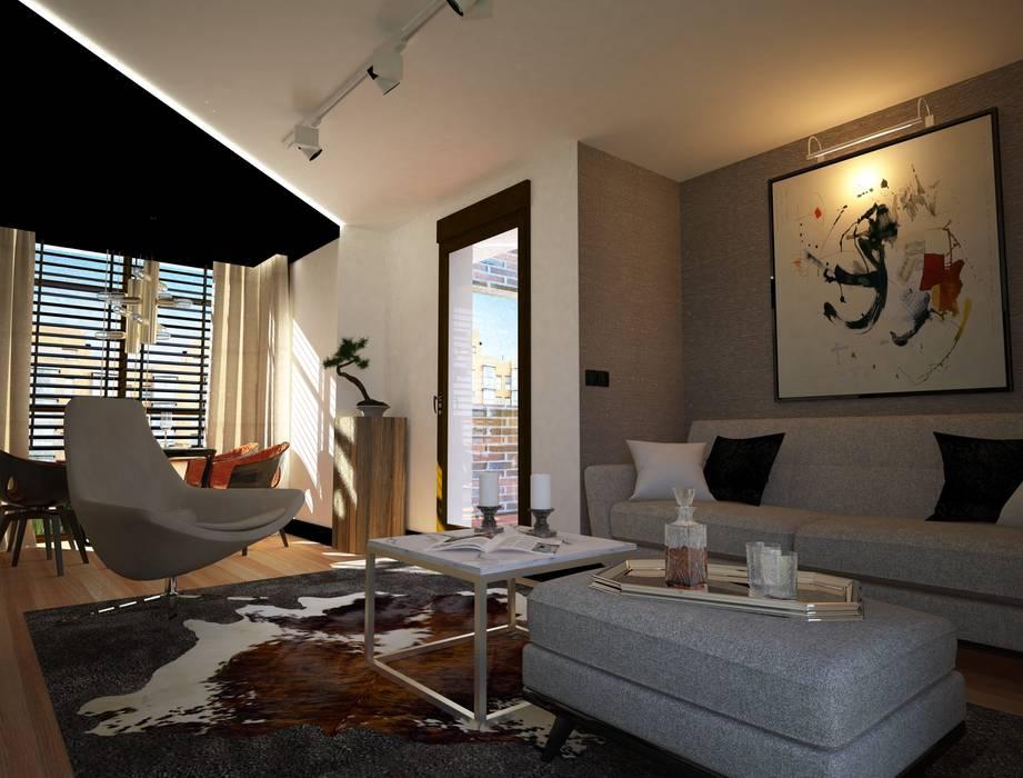 salón Livings de estilo moderno de Disak Studio Moderno