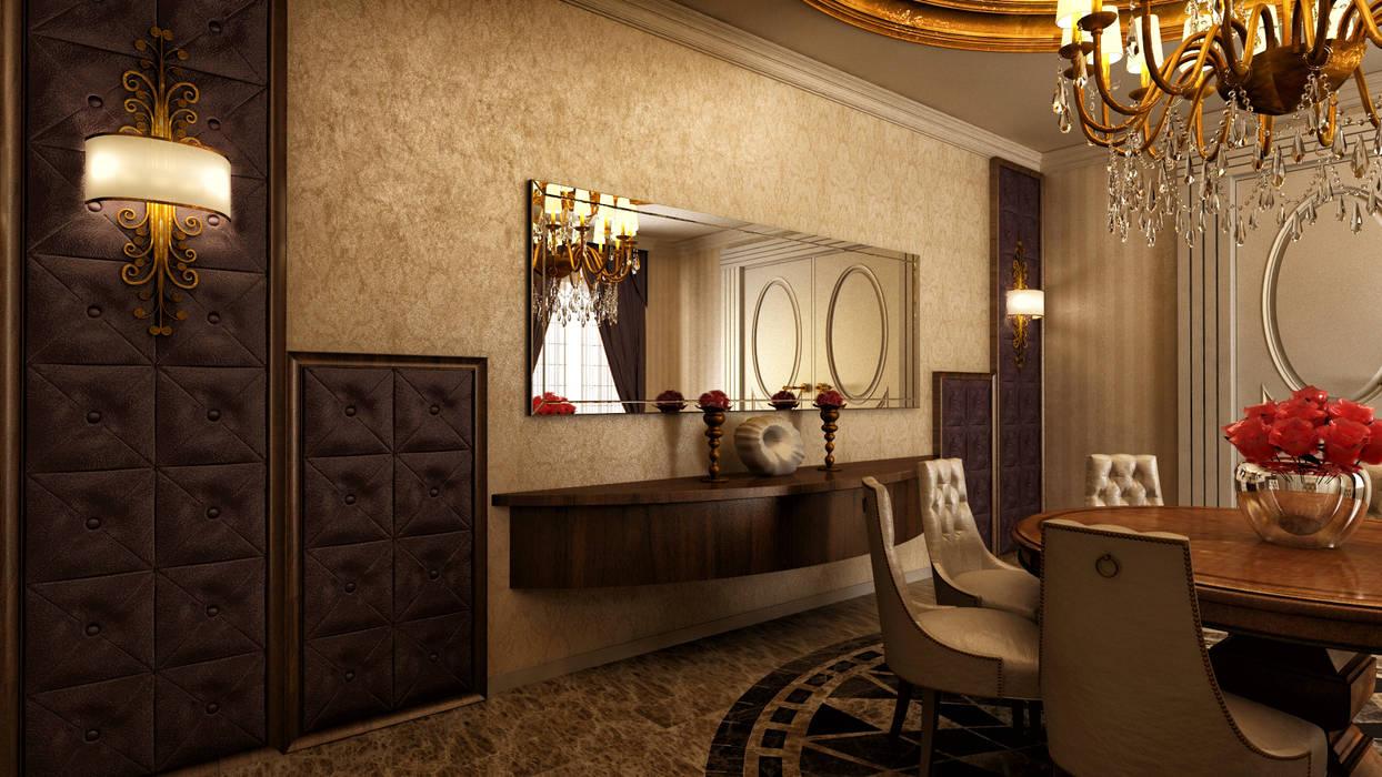 m. rezan özge özdemir – Villa iç tasarımı:  tarz Yemek Odası, Klasik