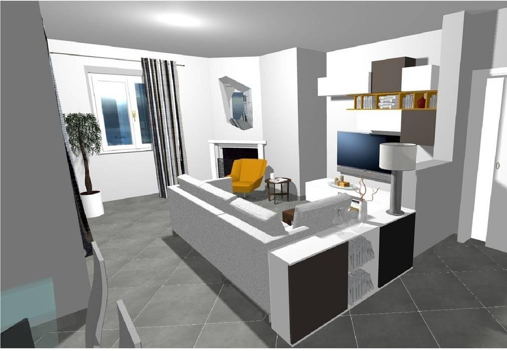 Progetto della zona soggiorno: Soggiorno in stile in stile Moderno di Indefinito