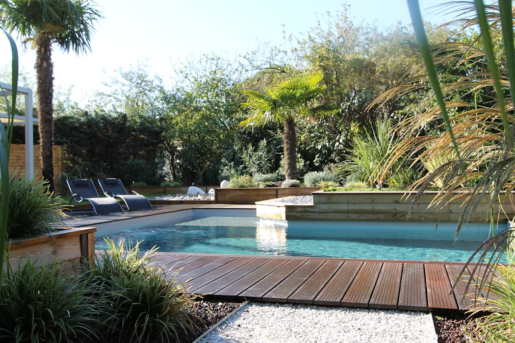 Pool by bureau d'etudes jardins KAEL, Modern