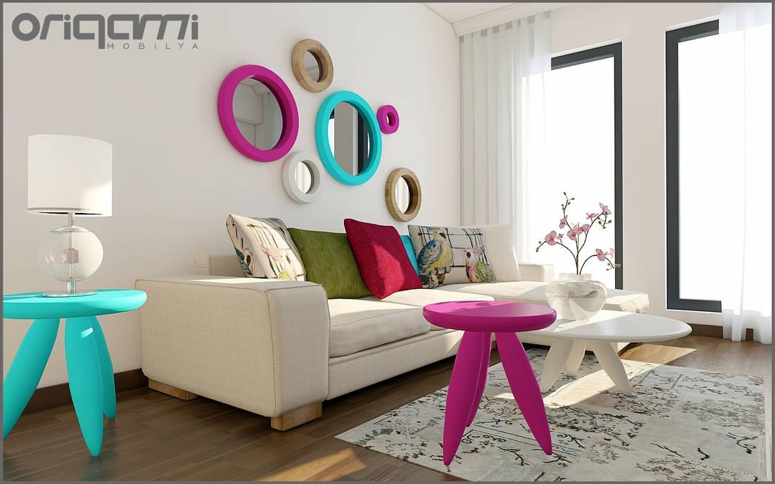 Oturma Odası Tasarımı Modern Oturma Odası Origami Mobilya Modern