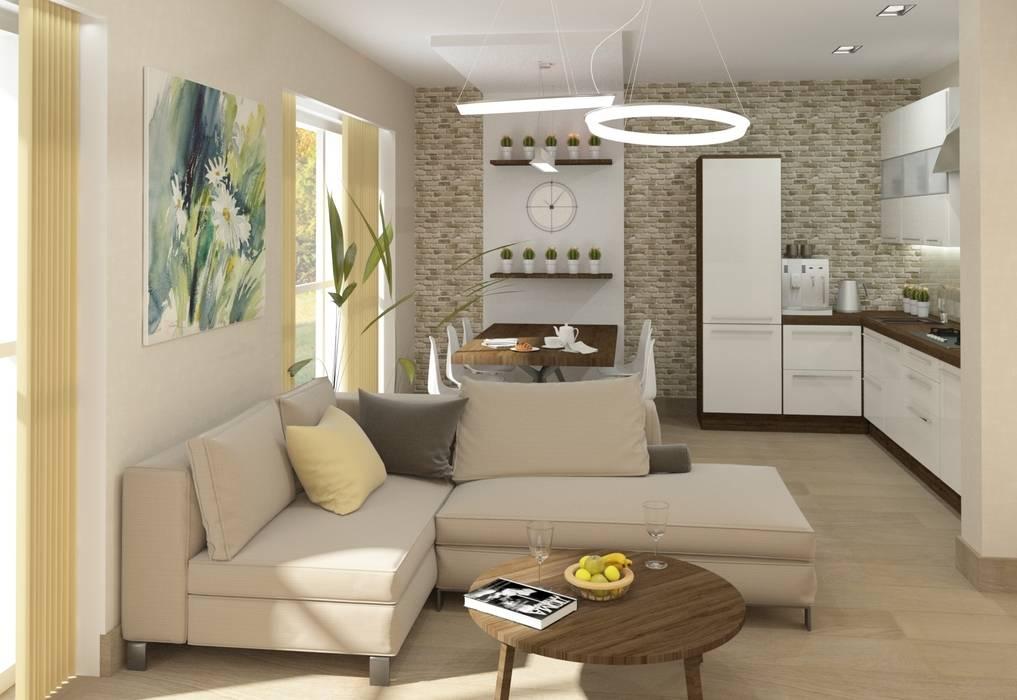 Зона столовой: Столовые комнаты в . Автор – e.v.a.project architecture & design