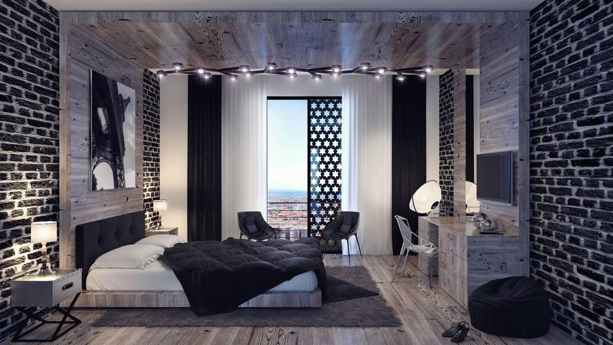 homify:  tarz Yatak Odası, Modern