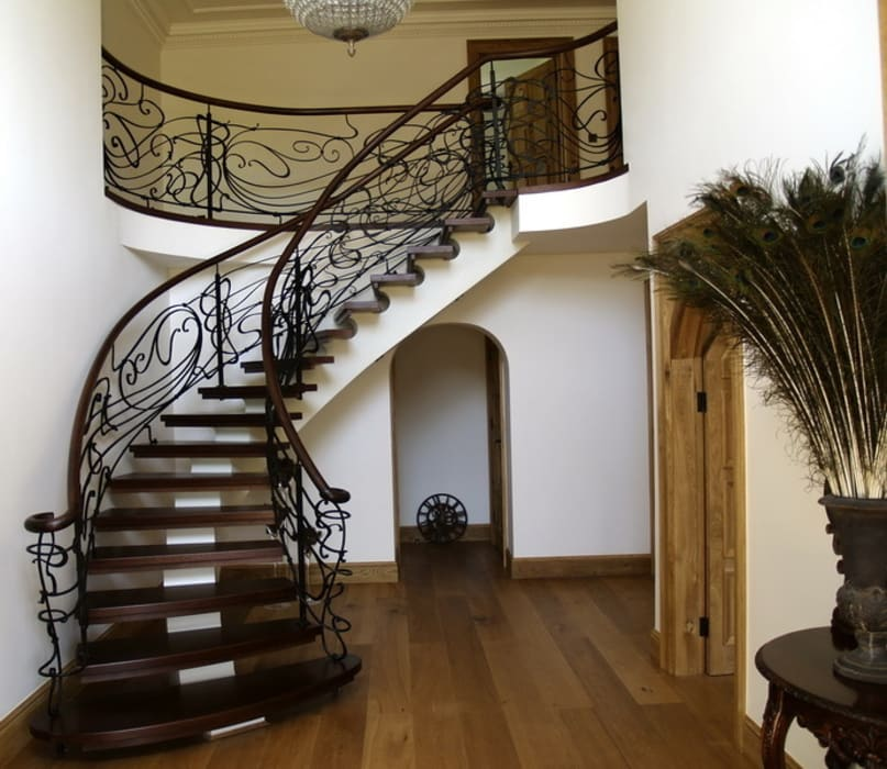 Potters Bar domestic staircase Scandinavian style corridor, hallway& stairs by Stair Factory Scandinavian