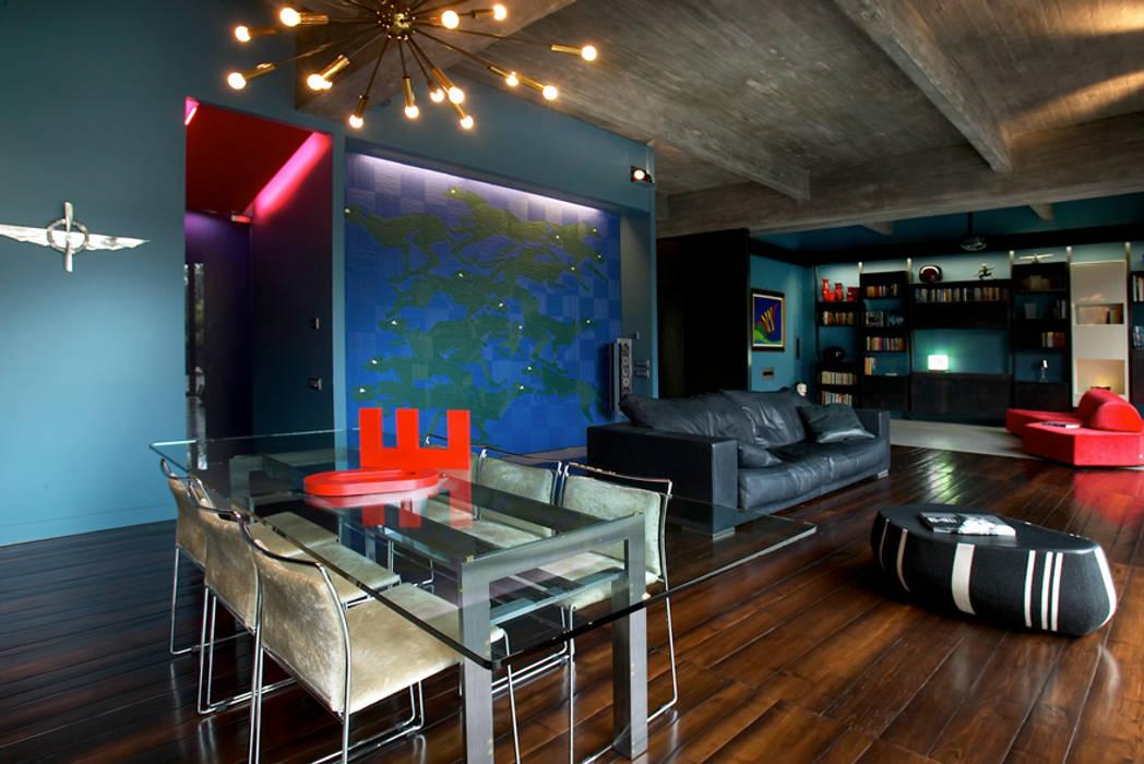 MG2 architetture - Interior - Loft: Sala da pranzo in stile in stile Industriale di mg2 architetture