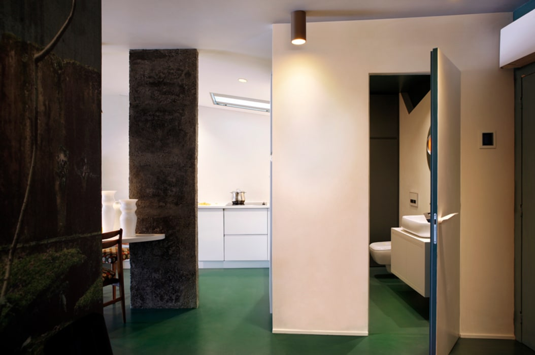 MG2 Architetture - Interior - Sliced boxes: Soggiorno in stile in stile Moderno di mg2 architetture