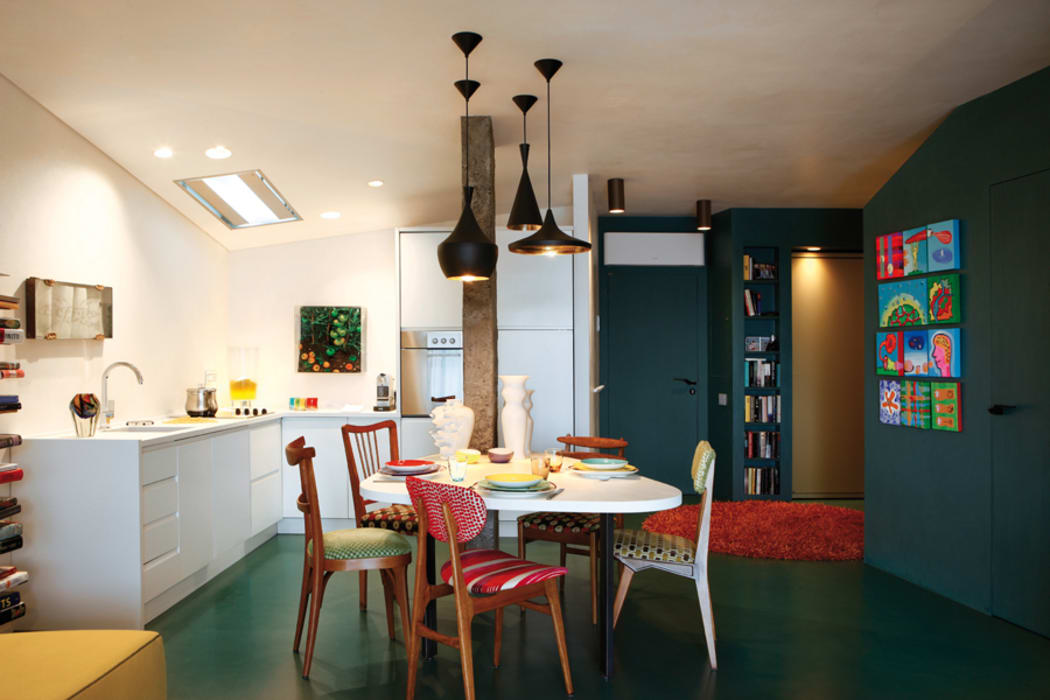 MG2 Architetture - Interior - Sliced boxes: Sala da pranzo in stile in stile Moderno di mg2 architetture