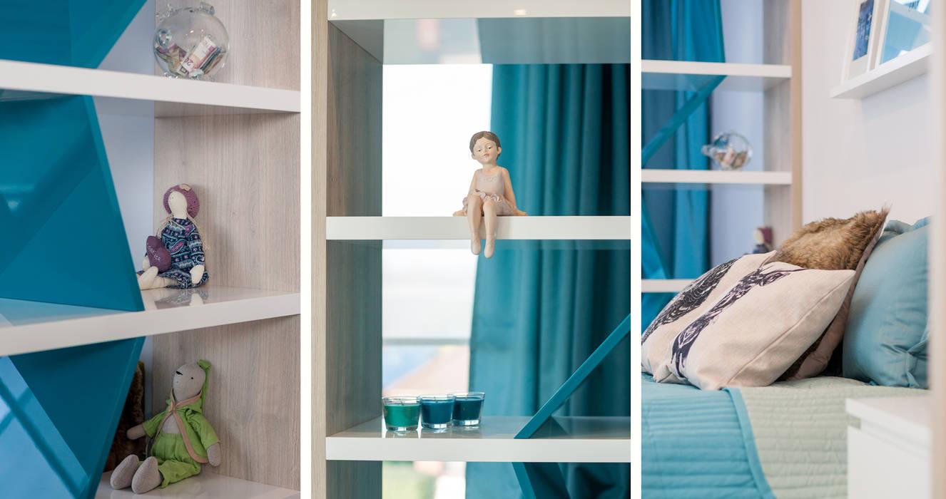 www.ewaweber.art.pl Skandynawski pokój dziecięcy od Ewa Weber - Pracownia Projektowa Skandynawski