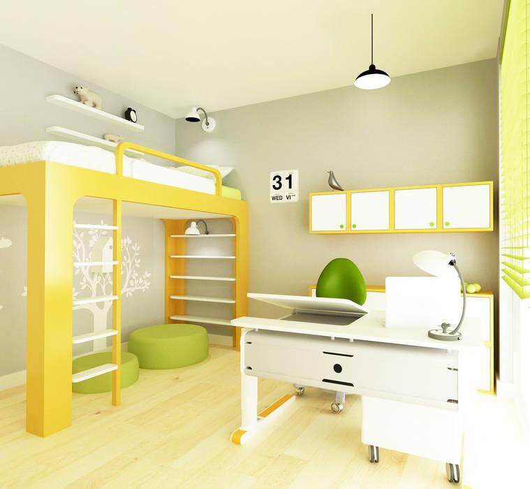 Pokój 12-latki Eklektyczny pokój dziecięcy od SPOIWO studio Eklektyczny