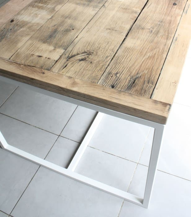 Deben Dining table in reclaimed French oak Salvation Furniture KitchenTables & chairs