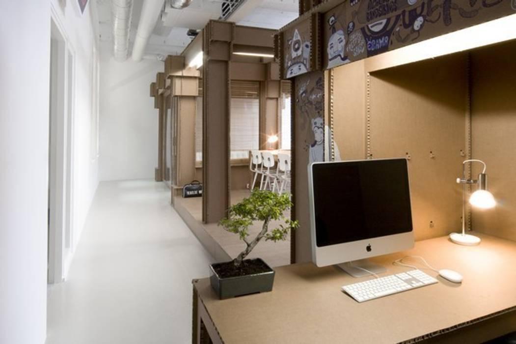 Biuro agencji reklamowej Nothing: styl , w kategorii Przestrzenie biurowe i magazynowe zaprojektowany przez Milena.Ostólska