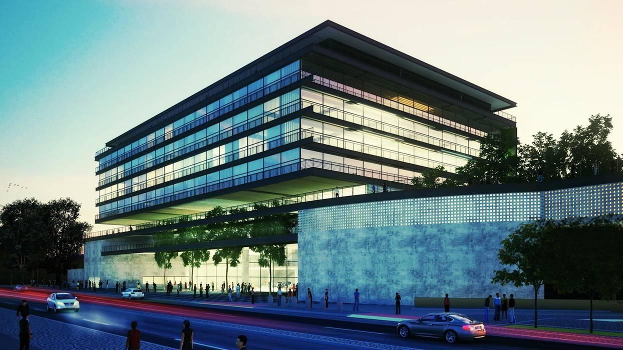 Anexo do BNDES Casas modernas por AF Arquitetura Moderno