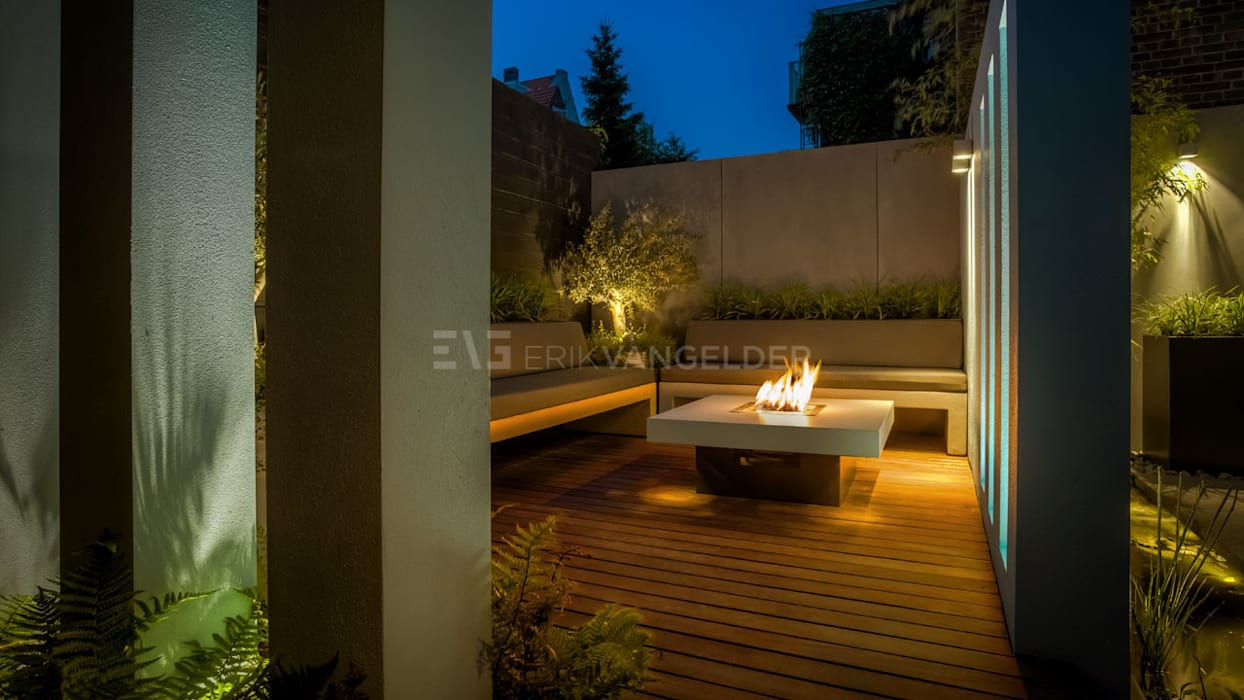 Ontwerp patio/stadstuin Erik van Gelder: modern  door ERIK VAN GELDER | Devoted to Garden Design, Modern