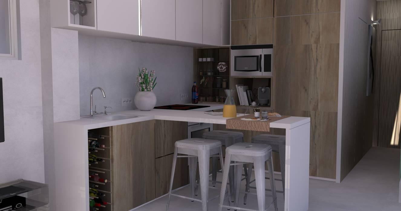 Beach House - Kitchenette Cozinhas ecléticas por Santiago | Interior Design Studio Eclético