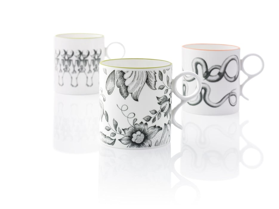 Round Handle Mugs: eclectic  by Gary Birks, Eclectic