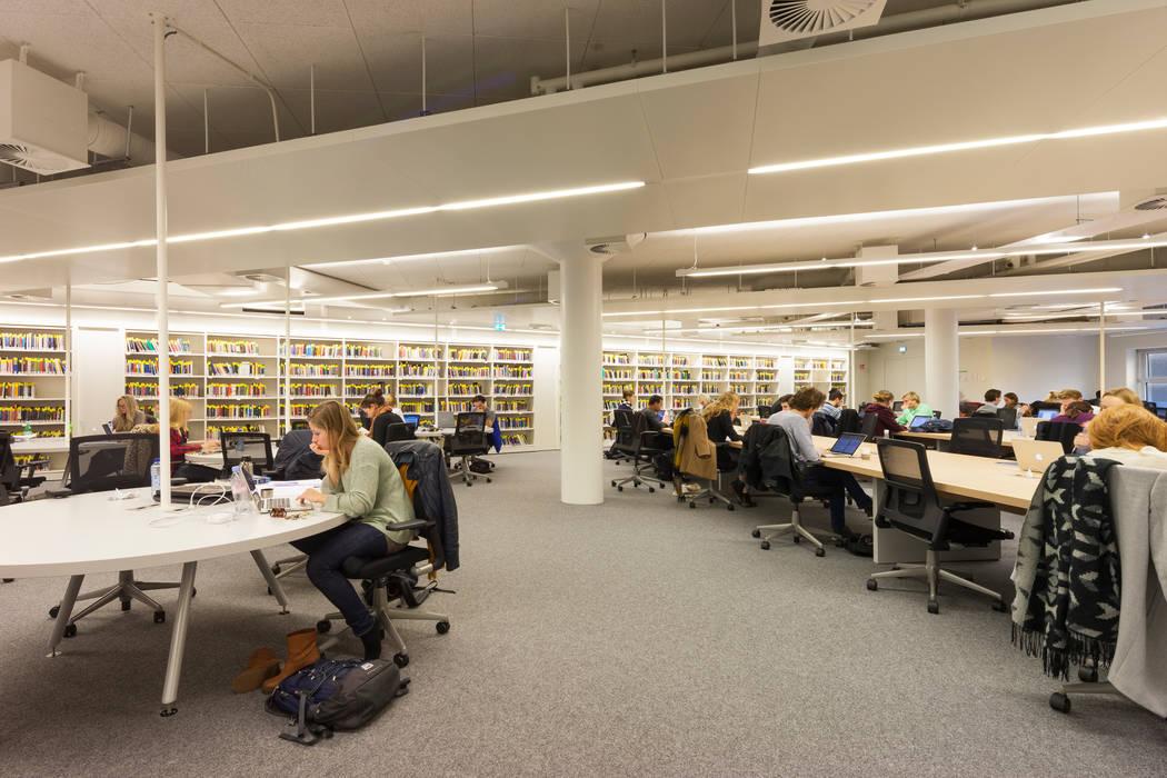 Studieplekken:  Scholen door PUUR interieurarchitecten