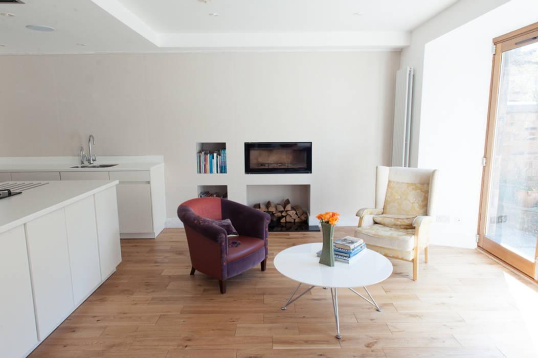 Hillhead Refurbishment 04 Salas de estilo moderno de George Buchanan Architects Moderno